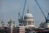 St Pauls Cathedral in London Surrounded by Cranes — Stock Photo