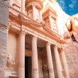 Al Khazneh - the treasury of Petra ancient city, Jordan — Stock Photo #8308564
