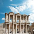 Facade of ancient Celsius Library in Ephesus, Turkey — Stock Photo #8308717