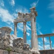 Stock Photo: Ruins in ancient city of Pergamon, Turkey