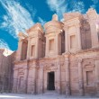Stock Photo: Facade of Monastery at Petra, Jordan