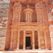 Al Khazneh - the treasury of Petra ancient city, Jordan — Stock Photo