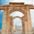 Stock Photo: Ancient Romtime town in Palmyra, Syria.