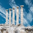 Stock Photo: Ruins of Athentemple in Priene, Turkey