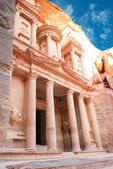 Al Khazneh - the treasury of Petra ancient city, Jordan — Foto de Stock