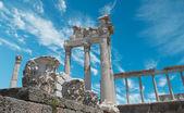 Ruins in ancient city of Pergamon, Turkey — Stock Photo
