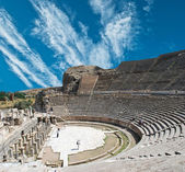 Amfitheater (colosseum) in efeze (efes) turkije, azië — Stockfoto