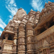 Erotic Temple in Khajuraho. Madhya Pradesh, India. — Stock Photo