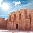 Monastery in world wonder Petra, Jordan — Stockfoto #8314377