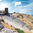 Ruins in ancient city of Pergamon, Turkey - Stock Photo