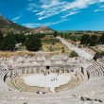 Amphitheater (Coliseum) in Ephesus (Efes) Turkey, Asia — Stock Photo #8314589