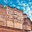 Meherangarh fort - jodhpur - india - Stock Photo