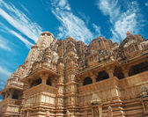 Erotyczne świątyni w khajuraho. madhya pradesh, indie. — Zdjęcie stockowe