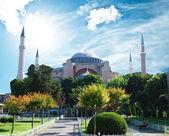 Hagia sophia mosque exterior in istanbul turkey — Stock Photo