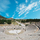 Amphitheater (Coliseum) in Ephesus (Efes) Turkey, Asia — Foto de Stock