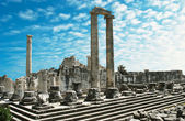 View of Temple of Apollo in antique city of Didyma — Stock Photo