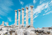 Ruins of Athena temple in Priene, Turkey — Stock Photo