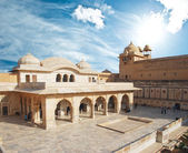 Beautifoul Amber Fort near Jaipur city in India. Rajasthan — Stock Photo