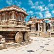 Stock Photo: Stone chariot. Chariot in vittalltemple in hampi. hampi - India