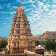 Temple in Hampi, Karnataka state, India - Stock Photo