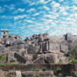 Stock Photo: Historic Golkondfort in Hyderabad city India