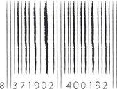 Stroke barcode — Stock Vector