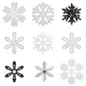 Set glas sneeuwvlokken — Stockfoto