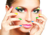 Maquillaje de arco iris — Foto de Stock
