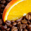 Coffee with orange — ストック写真