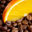 Coffee with orange — Stock Photo