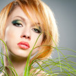 Green makeup - Foto de Stock