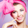 Woman in pink - Stockfoto