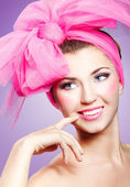 Woman in pink — Stock Photo