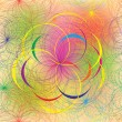 Rainbow geometric seamless pattern with circles — Imagen vectorial