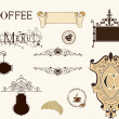 Vintage coffee set — Stock Vector
