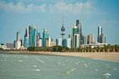 Kuwait skyline — Stock Photo