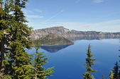 Blue lake — Stockfoto