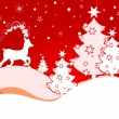 Stock Vector: Christmas deer