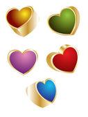 красочные стекла сердца — Cтоковый вектор