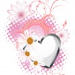 Vector de stock : Floral heart design