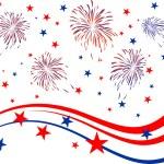 4 Temmuz - Bağımsızlık günü — Stok Vektör #9289312