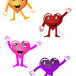 Funny hearts — Stock Vector