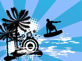 Estate - surf — Vettoriale Stock