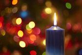 Vánoční svíčka — Stock fotografie