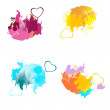 Colour blots — Stock Vector