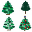 Collection of fur-trees — Stock Vector