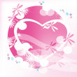 Heart on a pink background — Stock Vector