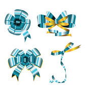 Collection of bows — Stock Vector