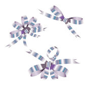 Silvery bows — Stock Vector