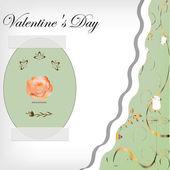 Card Happy Valentine — Stock Vector